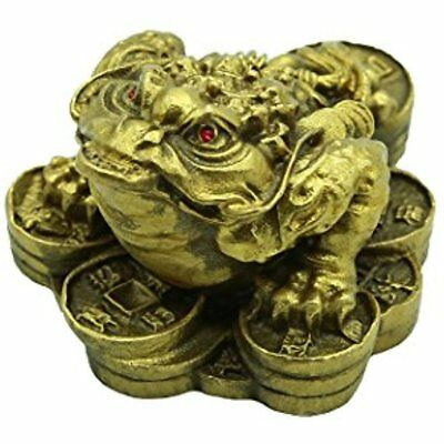 Copper Money Frog /Toad Sculptures Home Decor Gift Collectible