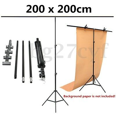 2x2m Adjustable Photography Background Support Stand Tripod + Crossbar +4 Clips