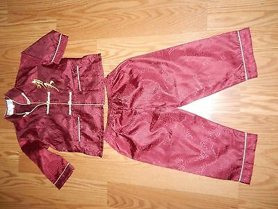 Nwot Laogudai Chinese Kid  Red Pant Outfit Costume/clothing -  Size 2
