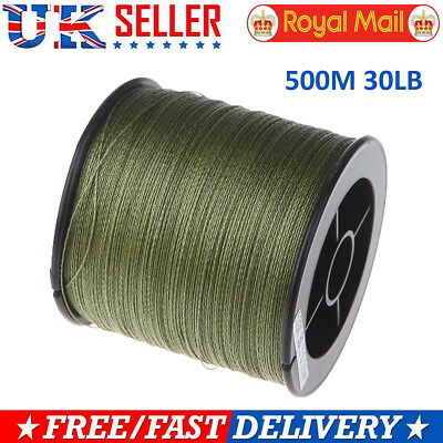 500M 30LB 0.26mm fishing line strength PE Braided 4 Strands green  P8K9