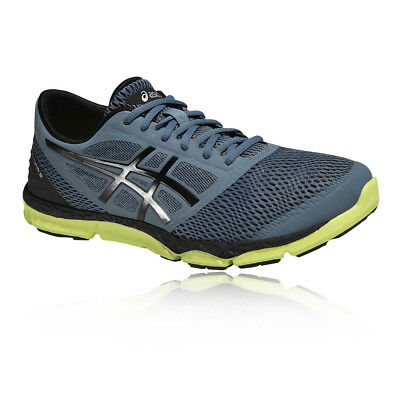 Asics Mens 33-DFA 2 Running Sports Shoes Trainers Sneakers Black Blue Breathable