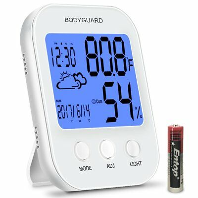 Bodyguard Digital Hygrometer Indoor Thermometer,Multifunctional Humidity Monitor