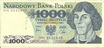 Poland 1000 Zlotych Bank Note1982 P-146