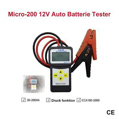 LANCOL MICRO-200 12V Batterietester Analyse W/Drucker Funktion EFB/AGM/GEL ON1