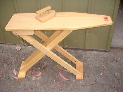 Wooden ironing board and iron  Brand New