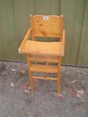 PINE  dolls high chair