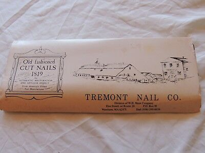 Tremont Nail Co. Salesman Sample of Old Fashioned Cut Nails