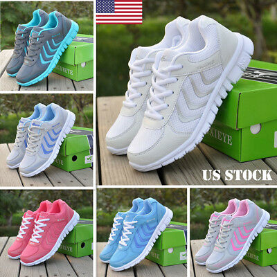 Women Lightweight Athletic Walking Sneakers Breathable Tennis Road Running Shoes
