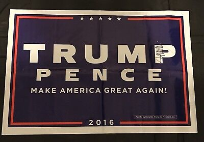DONALD TRUMP SIGNED AUTOGRAPH Campaign SIGN PRESIDENT MAKE AMERICA GREAT AGAIN