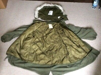 Us Army M65 fishtail,large,liner,hood,1980