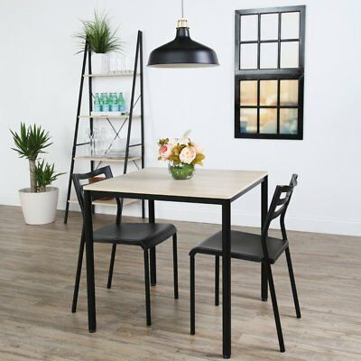 3 Piece Dining Room Set Pub Bar Nook Bistro Compact Breakfast Table Chairs
