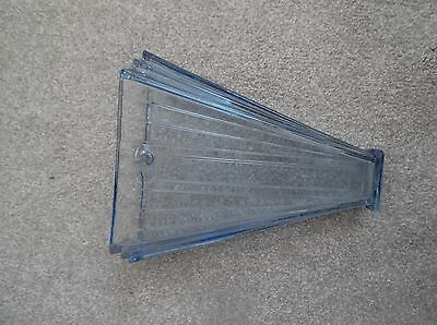 Large Moulded Pale Blue Glass Wall Pocket Deco style