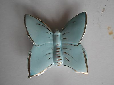 Wallpocket 50's Blue as Butterfly with 22carat Gold Strips