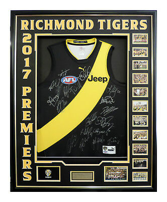 Richmomd Tigers Premiers 2017 Signed And Framed With Coa