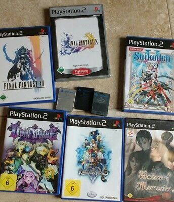 Playstation 2 + 3 Memory Card 8MB+ Controller + 6 Spiele