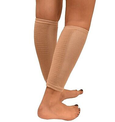 Therapeutic GEL Sleeve CALF / SHIN Support Soothes Leg Muscle Cramps Pain Calves