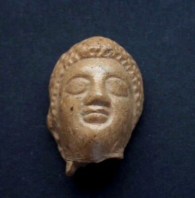 ANCIENT SMALL ROMAN RED CERAMIC CLASSICAL HEAD 1st-3rd CENTURY A.D.