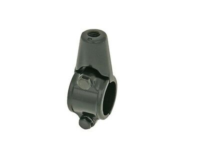 Steel Mirror Mounting Clamp for M8 Left Hand Thread and 22mm Bars