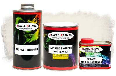 2k Acrylic Car Paint BMC OLD ENGLISH WHITE WT3 2.5Litre Kit Direct High Gloss