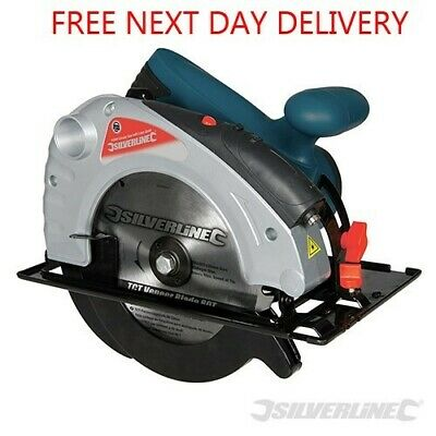 Circular Saw 185Mm 1400W 24T Tct Blade & Laser Guide Silverline 285873