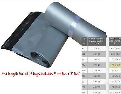 Post Mailing Bag Silver Post Bag Postage Poly Postal Self Seal Bags
