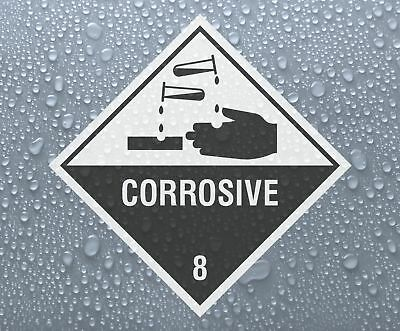 CORROSIVE 8 - Dangerous Hazardous Substances printed self-adhesive sticker