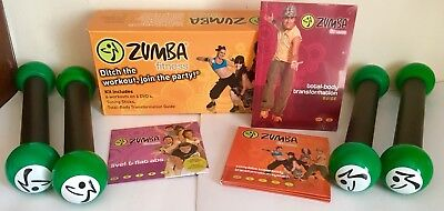 ZUMBA FITNESS DVD Home Exercise Set with 2 Extra Toning Bars, 4 DVD's & Guide