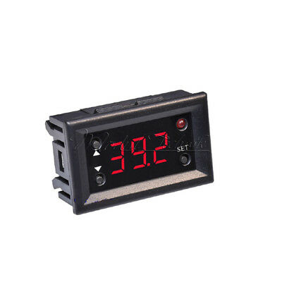 Red W1218 Thermostat 12V+3-Digit Display NTC Sensor Probe Controller Rep W1209WK