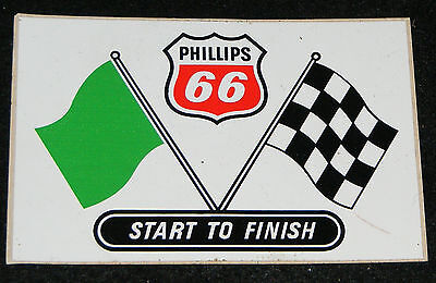 Phillips 66 Racing Decal Sticker Checker Flag Start To Finish