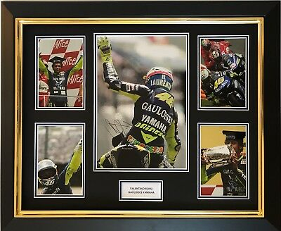 Valentino Rossi Hand Signed Gauloises Yamaha Motogp Framed Photo Display Proof 1