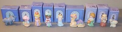 Vintage Avon Heavenly Blessing Nativity Pieces In Box - No Holy Family - 9 total