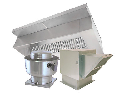 8' Type 1 Commercial Kitchen Hood and Fan System