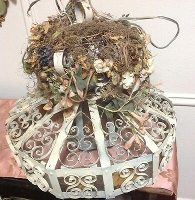 Antique French Chic Shabby Cottage Chandelier Lamp Lightingcrusty Rusty & Chippy