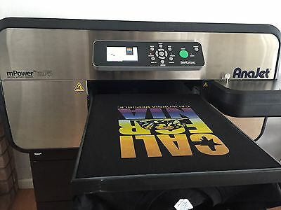 AnaJet MP5 mPower Apparel Printer DTG Direct to Garment laptop and extras.