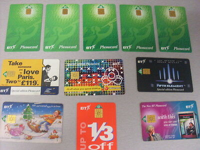 Bt Smart Phonecards 11 X Mixed  #1