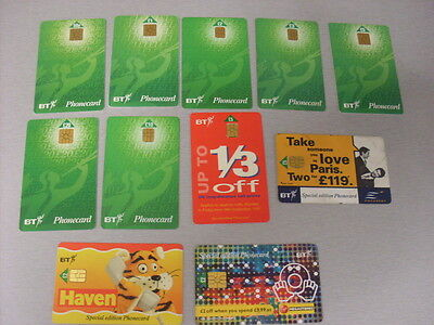 Bt Smart Phonecards 11 X Mixed  #2