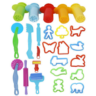 20x Smart Dough Tools Kit Kids Childern Favor Doh Toys with 5pcs Extruder Tools