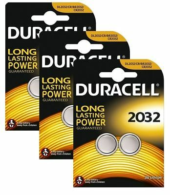 6 x Duracell CR2032 3V Lithium Coin Cell Battery 2032, DL2032, BR2032, SB-T15