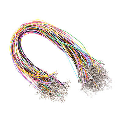 100x Braided Imitation Leather Wax Cord Rope Necklace Chain for Jewelry Making