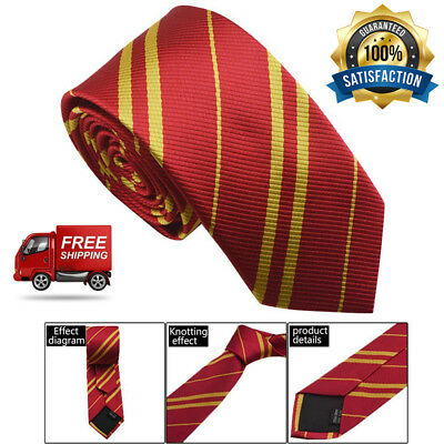Tie Harry Potter Striped Red Potter Accessory Best Bundles for Boys and Girls