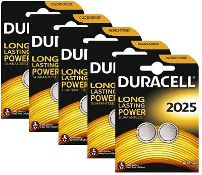 10 x Duracell CR2025 3V Lithium Coin Cell Battery 2025, DL2025, BR2025, SB-T14
