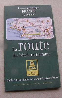 Map of France, La Route des Hotels & restaurants, 1/865,000  Folding .