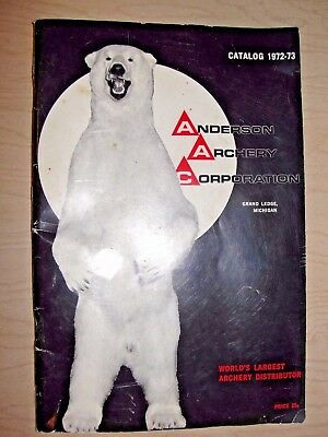 Vintage (1972-73)  ANDERSON ARCHERY Corporation CATALOG 64 Pages
