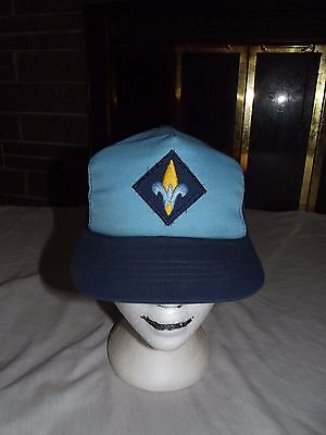 Vintage Weeblos Boy Scouts Snap Back Hat BSA Blue Made In USA Size Small/ Medium