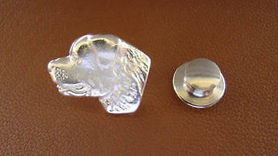 Sterling Silver Rottweiler Head Study Lapel Pin