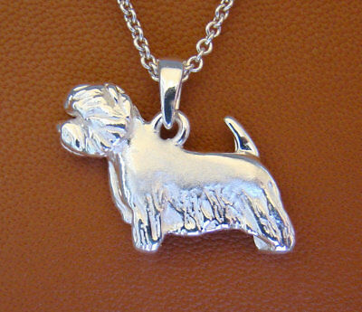 Small Sterling Silver West Highland White Terrier Standing Study Pendant