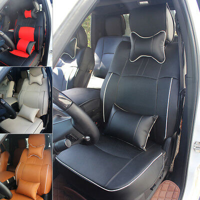 Pleasing Car Pu Leather Seat Cover With Armrest Mat Set For 2009 2017 Lamtechconsult Wood Chair Design Ideas Lamtechconsultcom