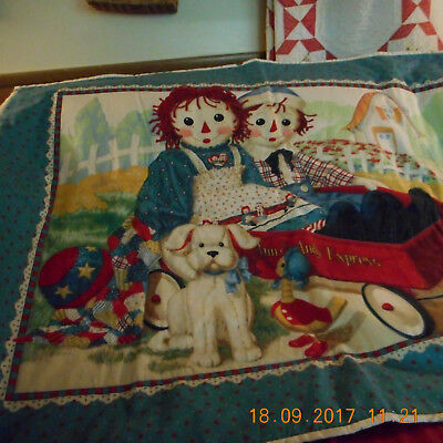 Raggedy Ann and Andy wall hanging Handcrafted