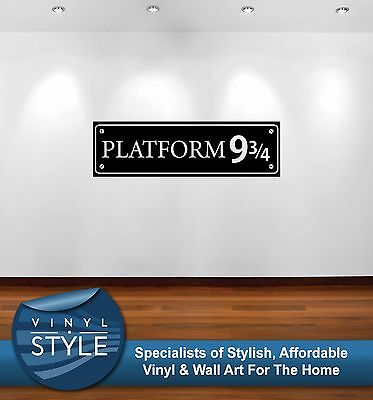 Harry Potter Platform 9 And 3/4 002 Sticker Wall Art Graphic Various Colour