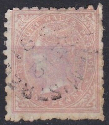 ancien timbre  new south wales one penny australie Queen Victoria